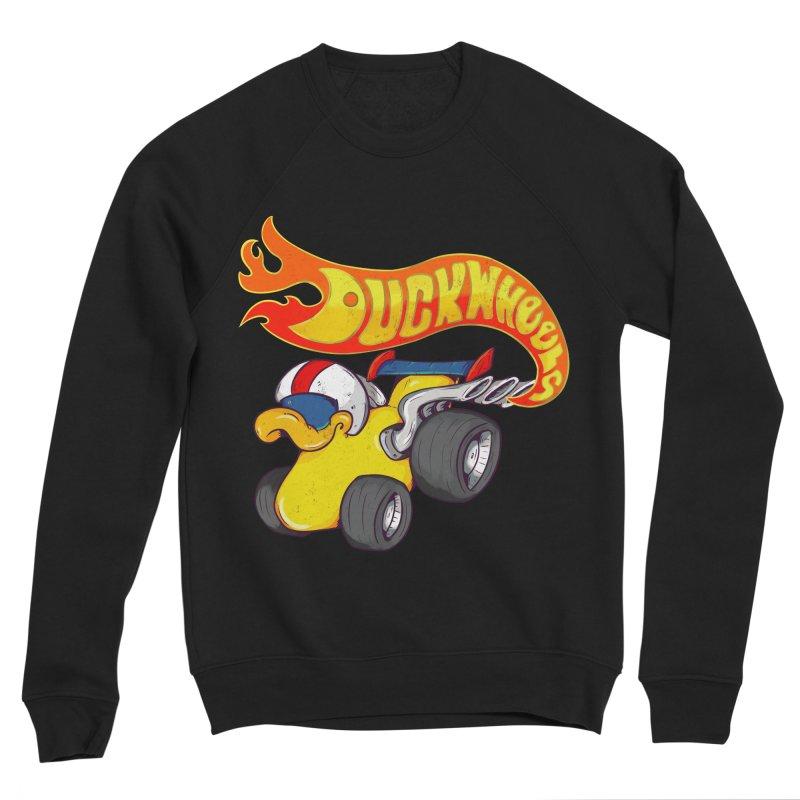 DuckWheels Men's Sponge Fleece Sweatshirt by The Last Tsunami's Artist Shop