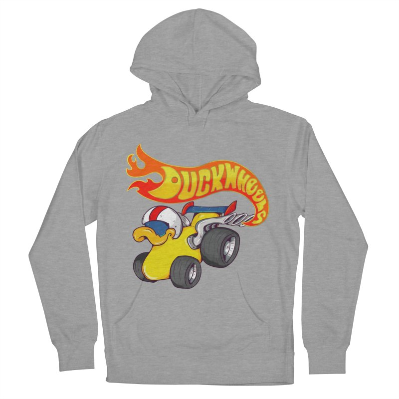 DuckWheels Men's French Terry Pullover Hoody by The Last Tsunami's Artist Shop