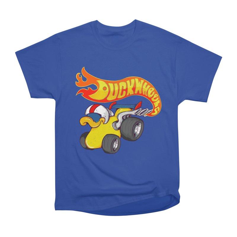 DuckWheels Women's Heavyweight Unisex T-Shirt by The Last Tsunami's Artist Shop