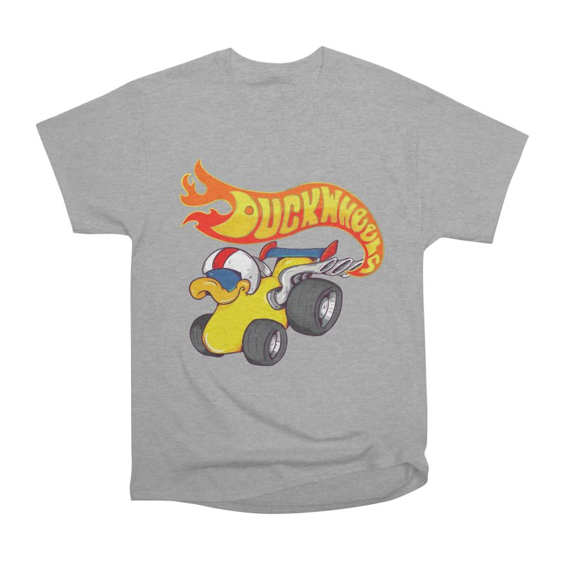 DuckWheels Women's Heavyweight Unisex T-Shirt by The Last Tsunami's Artist Shop
