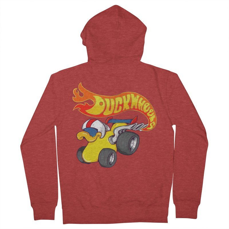 DuckWheels Women's Zip-Up Hoody by The Last Tsunami's Artist Shop