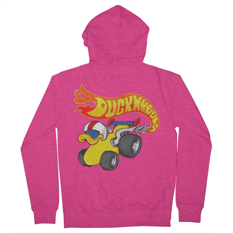 DuckWheels Women's French Terry Zip-Up Hoody by The Last Tsunami's Artist Shop