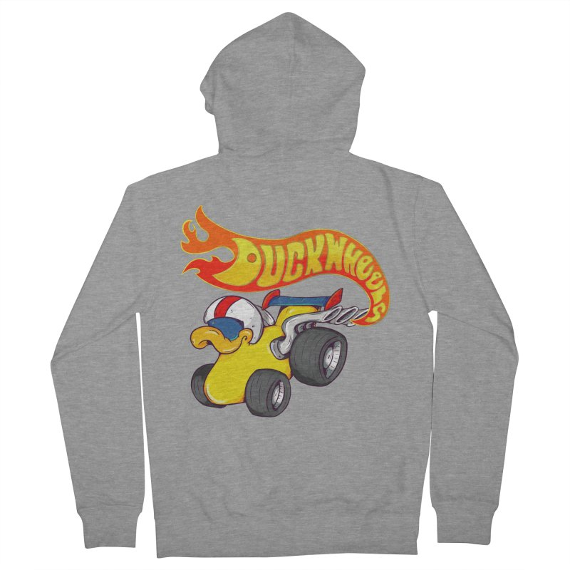 DuckWheels Men's French Terry Zip-Up Hoody by The Last Tsunami's Artist Shop