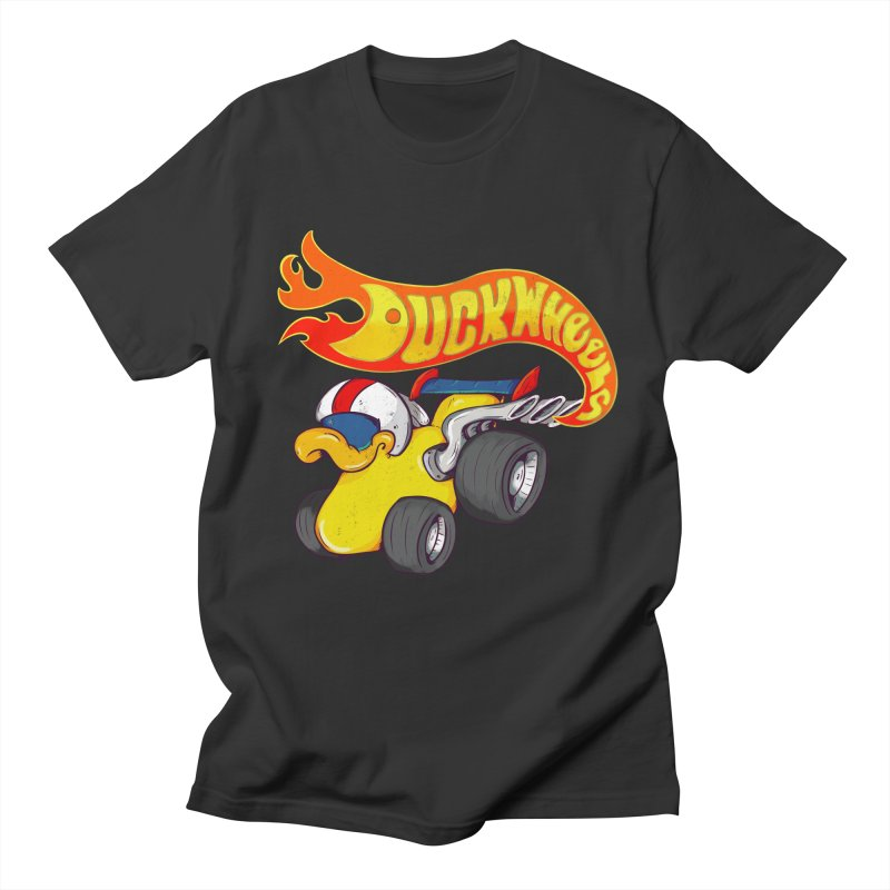 DuckWheels Women's Regular Unisex T-Shirt by The Last Tsunami's Artist Shop