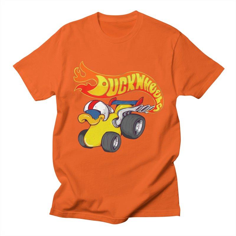 DuckWheels Women's Regular Unisex T-Shirt by The Last Tsunami's Artist Shop