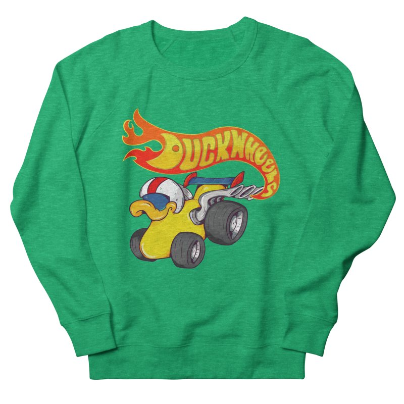 DuckWheels Women's French Terry Sweatshirt by The Last Tsunami's Artist Shop