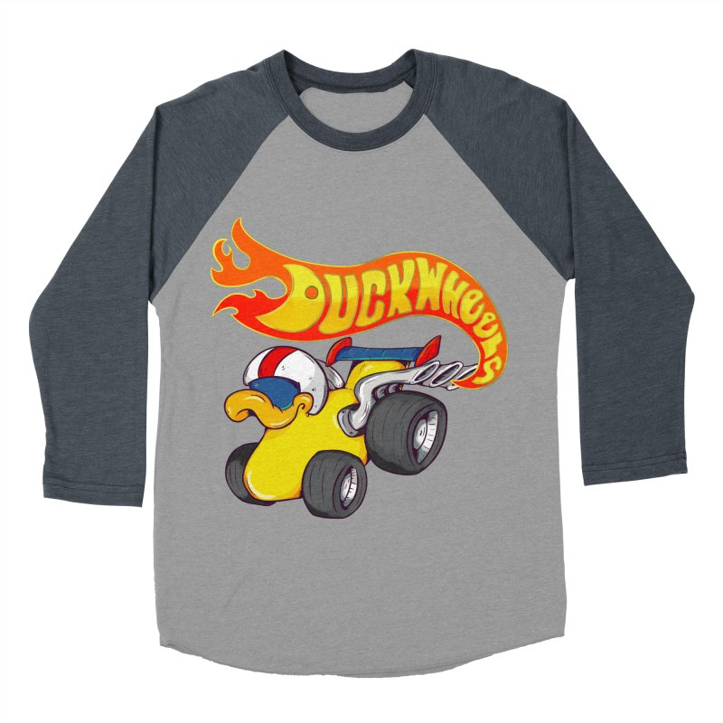 DuckWheels Women's Baseball Triblend Longsleeve T-Shirt by The Last Tsunami's Artist Shop