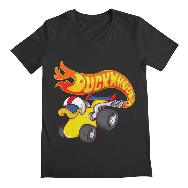 DuckWheels Men's Regular V-Neck by The Last Tsunami's Artist Shop