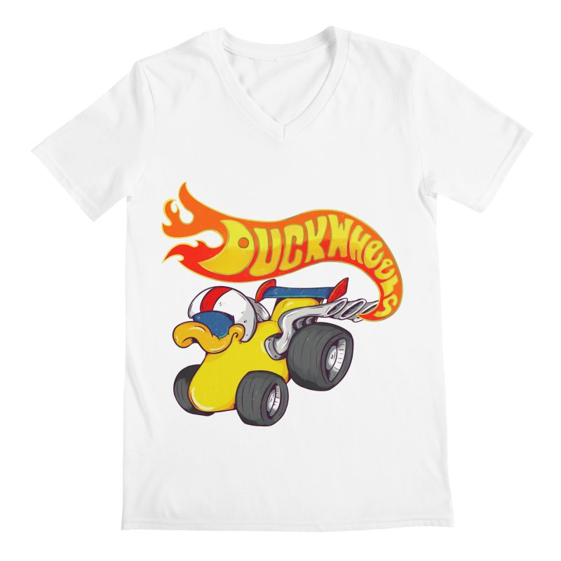 DuckWheels Men's V-Neck by The Last Tsunami's Artist Shop