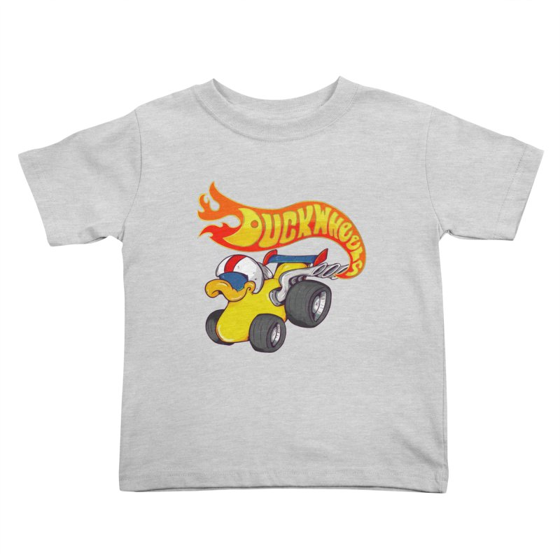 DuckWheels Kids Toddler T-Shirt by The Last Tsunami's Artist Shop