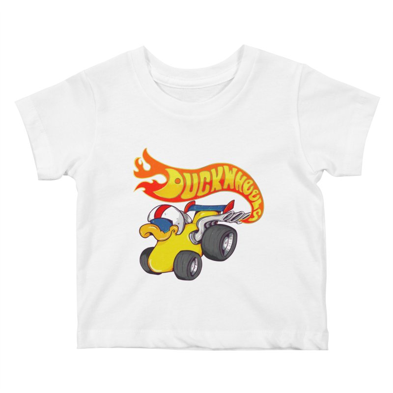 DuckWheels Kids Baby T-Shirt by The Last Tsunami's Artist Shop