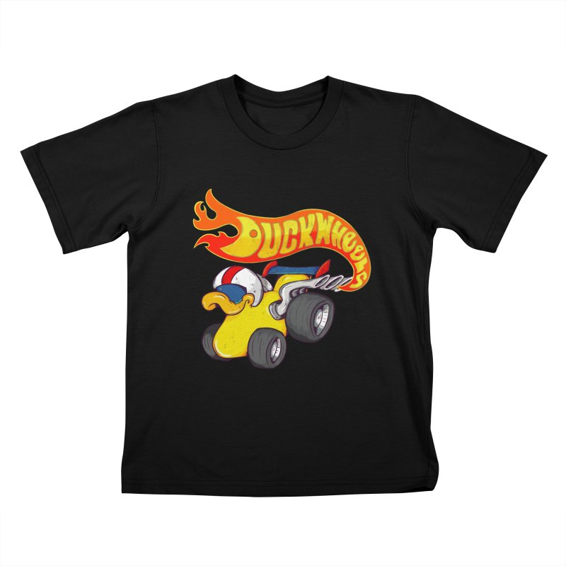 DuckWheels Kids T-Shirt by The Last Tsunami's Artist Shop