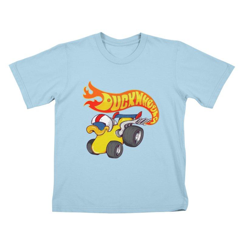 DuckWheels Kids T-Shirt by The Last Tsunami's Artist Shop