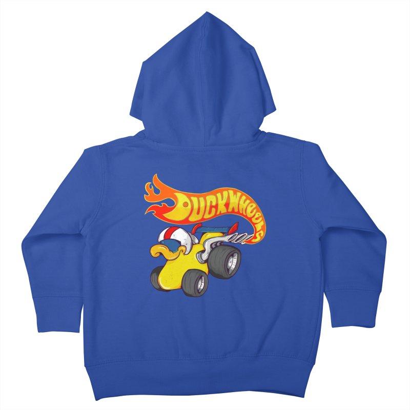 DuckWheels Kids Toddler Zip-Up Hoody by The Last Tsunami's Artist Shop