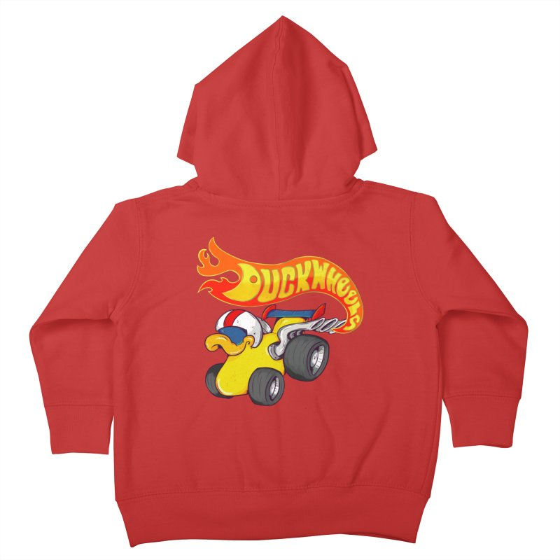 DuckWheels Kids Toddler Zip-Up Hoody by The Last Tsunami's Artist Shop