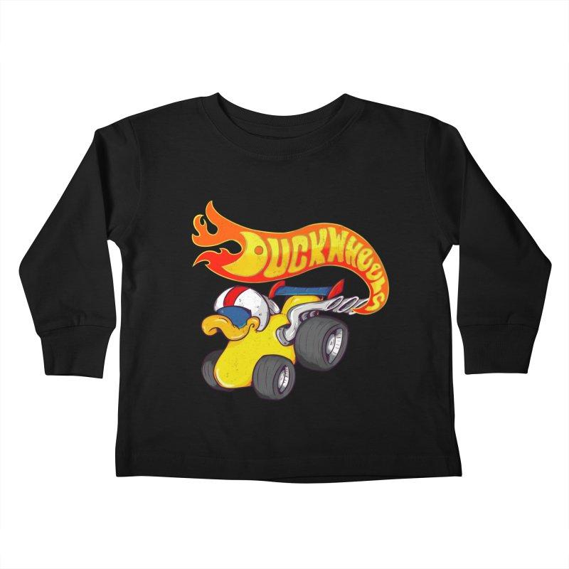 DuckWheels Kids Toddler Longsleeve T-Shirt by The Last Tsunami's Artist Shop