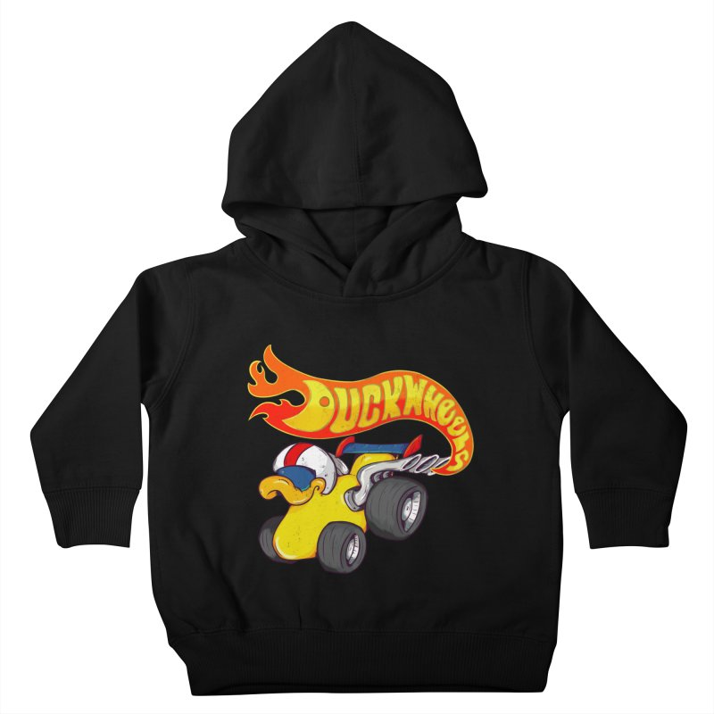 DuckWheels Kids Toddler Pullover Hoody by The Last Tsunami's Artist Shop