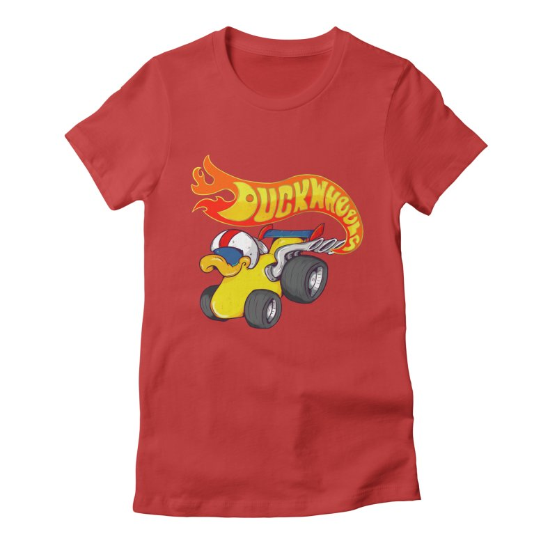 DuckWheels Women's Fitted T-Shirt by The Last Tsunami's Artist Shop