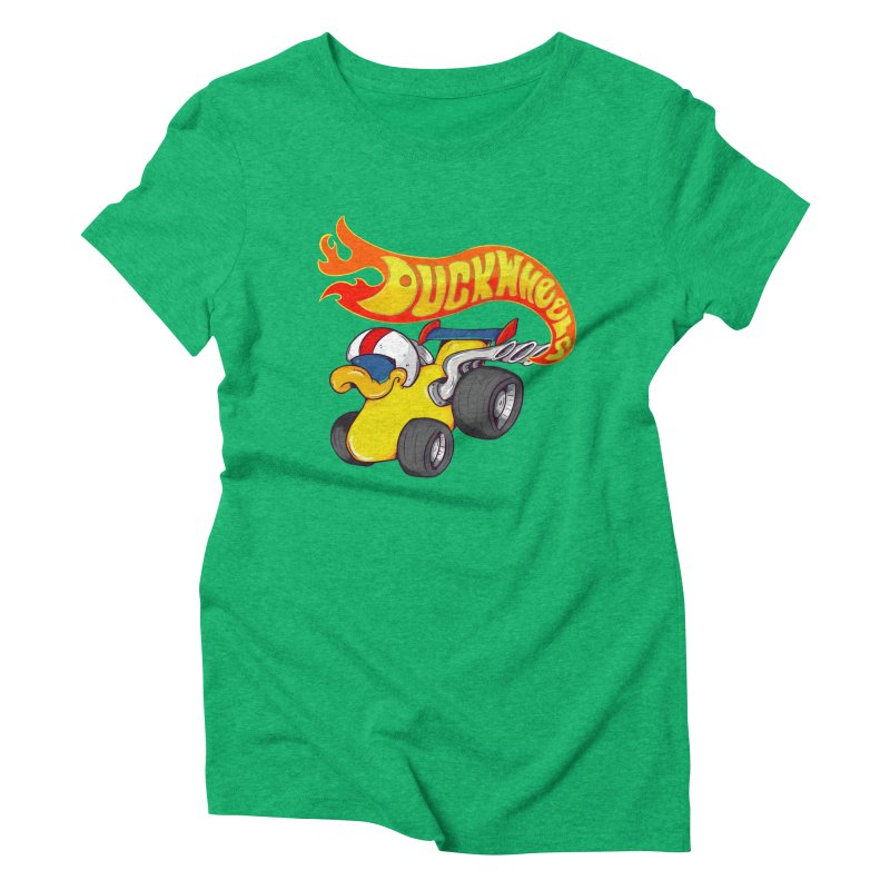 DuckWheels Women's Triblend T-Shirt by The Last Tsunami's Artist Shop