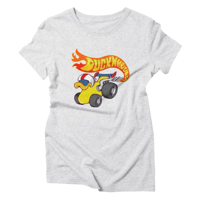 DuckWheels Women's Triblend T-Shirt by The Last Tsunami's Artist Shop
