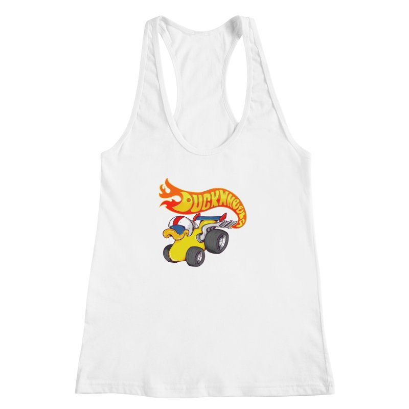 DuckWheels Women's Racerback Tank by The Last Tsunami's Artist Shop