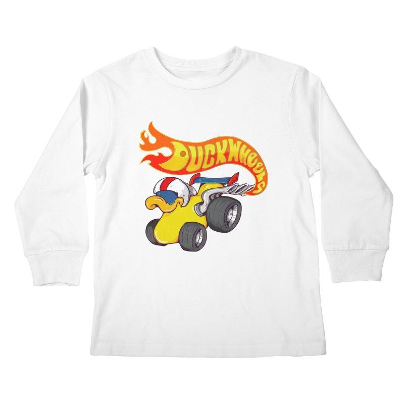 DuckWheels Kids Longsleeve T-Shirt by The Last Tsunami's Artist Shop