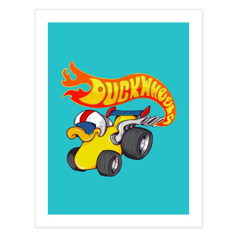 DuckWheels Home Fine Art Print by The Last Tsunami's Artist Shop