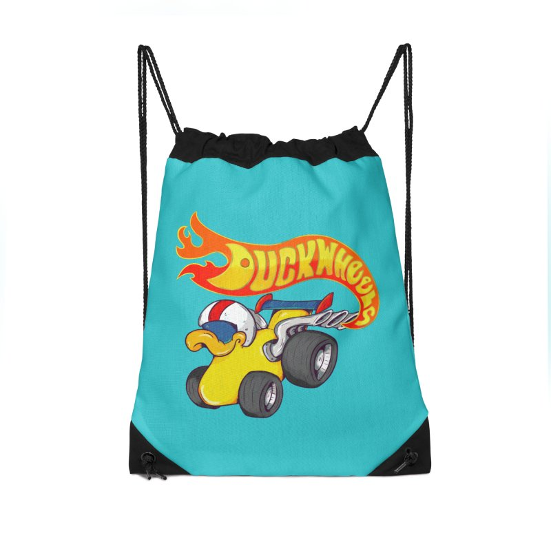 DuckWheels Accessories Drawstring Bag Bag by The Last Tsunami's Artist Shop