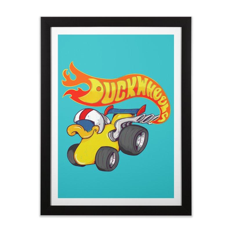 DuckWheels Home Framed Fine Art Print by The Last Tsunami's Artist Shop