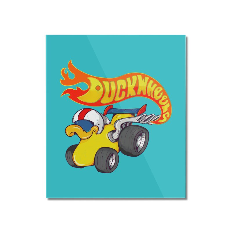 DuckWheels Home Mounted Acrylic Print by The Last Tsunami's Artist Shop