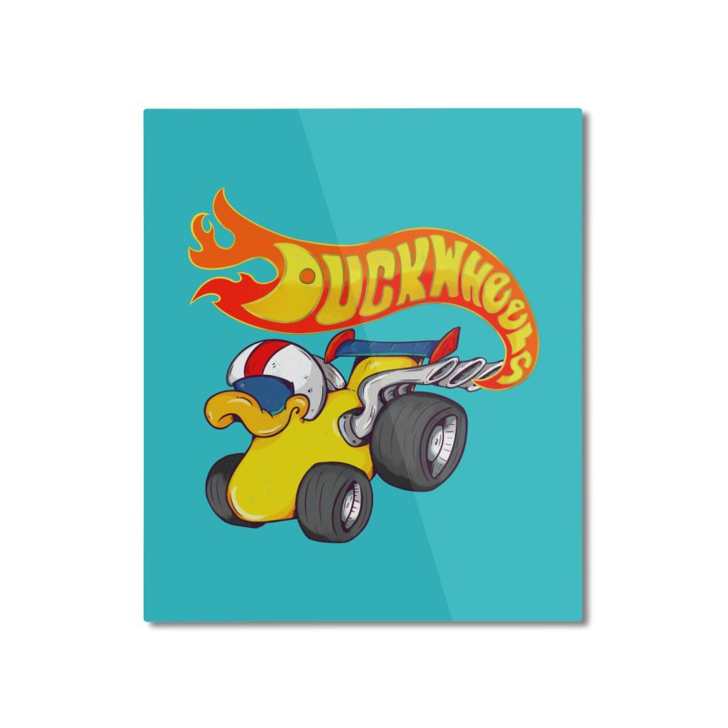 DuckWheels Home Mounted Aluminum Print by The Last Tsunami's Artist Shop