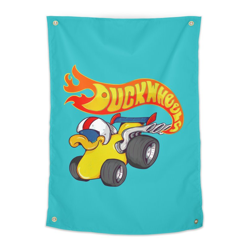 DuckWheels Home Tapestry by The Last Tsunami's Artist Shop