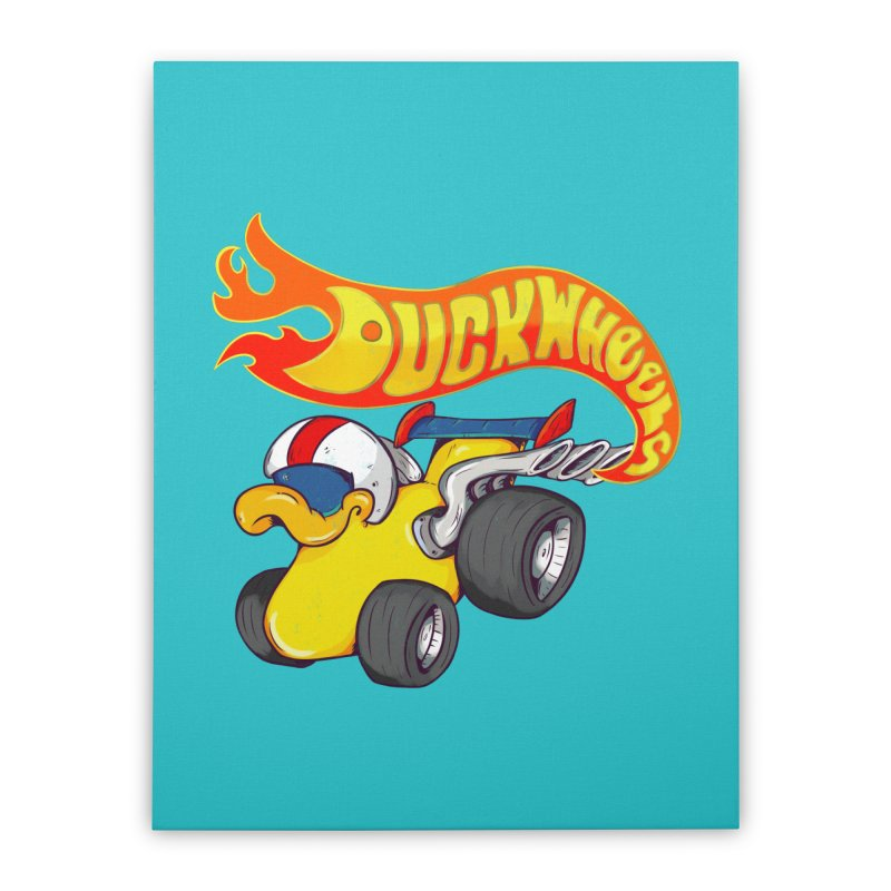 DuckWheels Home Stretched Canvas by The Last Tsunami's Artist Shop