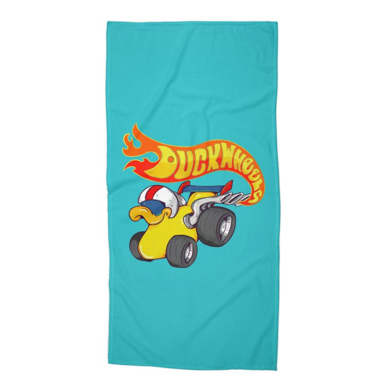 DuckWheels Accessories Beach Towel by The Last Tsunami's Artist Shop