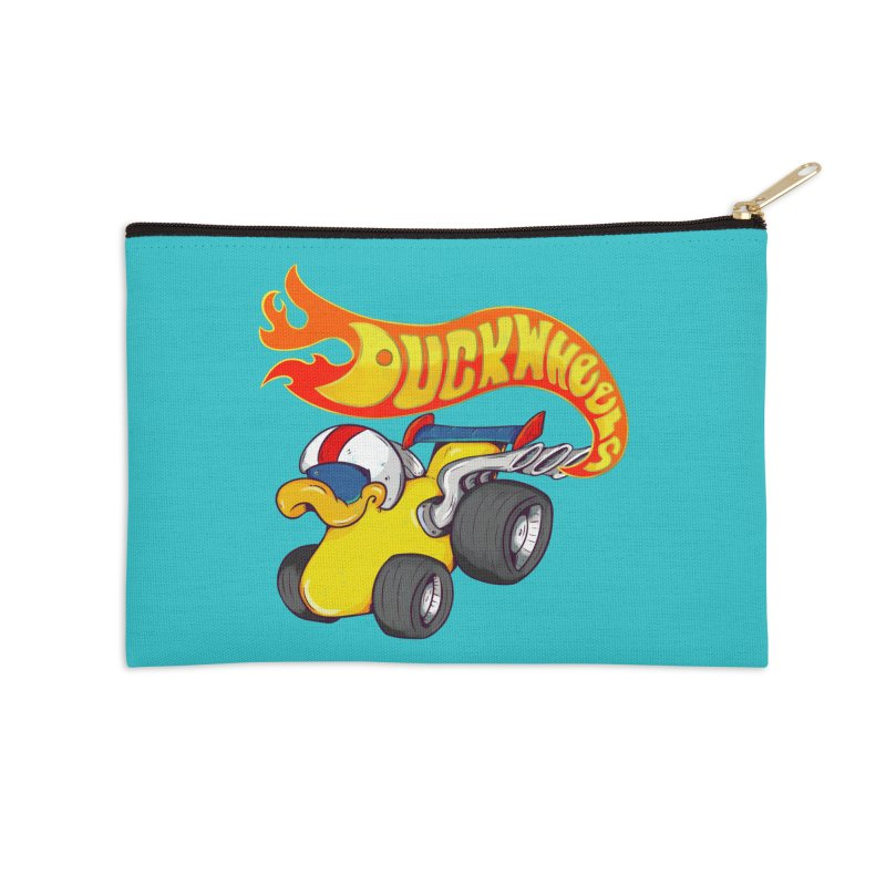 DuckWheels Accessories Zip Pouch by The Last Tsunami's Artist Shop