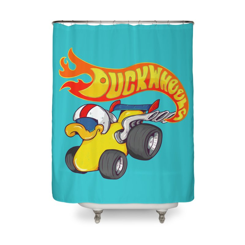 DuckWheels Home Shower Curtain by The Last Tsunami's Artist Shop