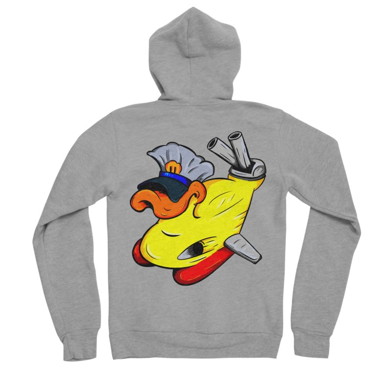 Destrucduck Men's Sponge Fleece Zip-Up Hoody by The Last Tsunami's Artist Shop