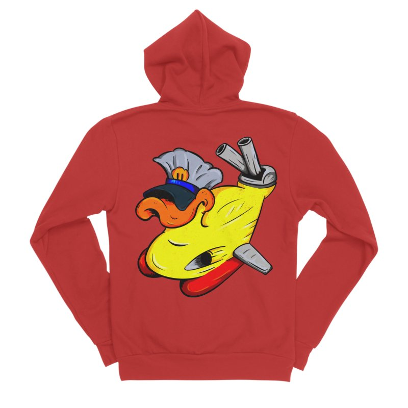 Destrucduck Women's Sponge Fleece Zip-Up Hoody by The Last Tsunami's Artist Shop