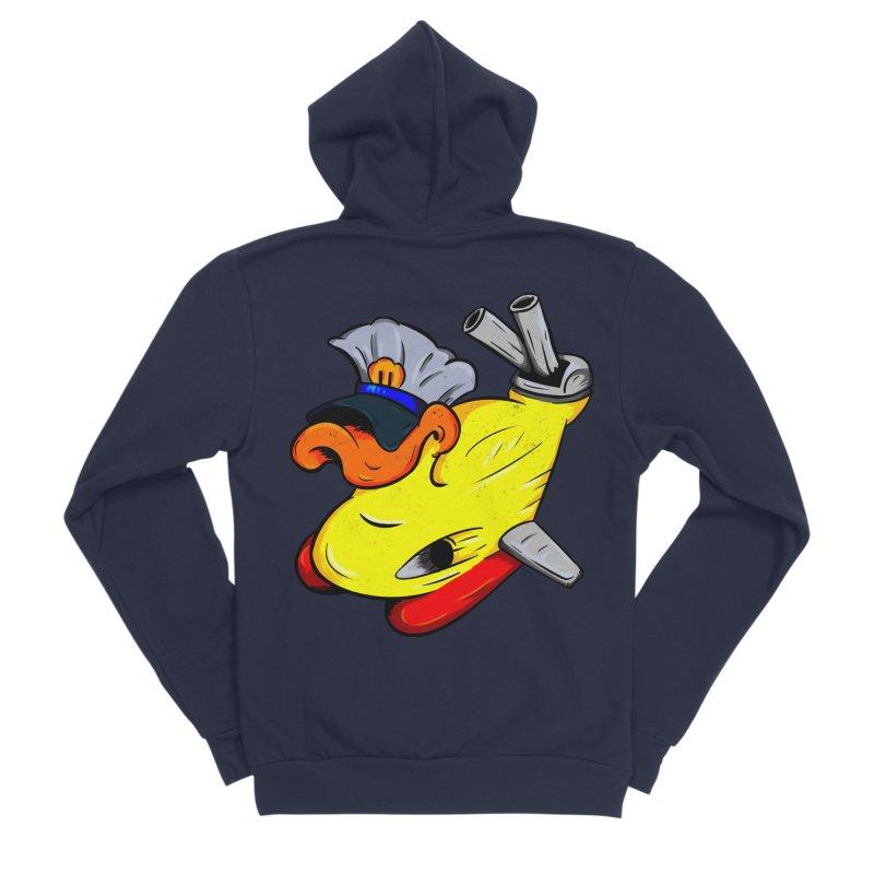 Destrucduck Men's Sponge Fleece Zip-Up Hoody by The Last Tsunami's Artist Shop
