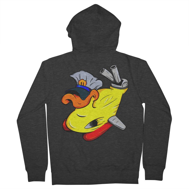 Destrucduck Women's French Terry Zip-Up Hoody by The Last Tsunami's Artist Shop