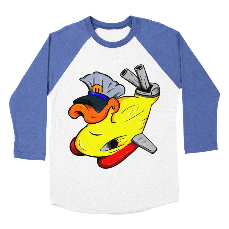 Destrucduck Men's Baseball Triblend T-Shirt by The Last Tsunami's Artist Shop