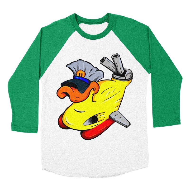Destrucduck Men's Baseball Triblend Longsleeve T-Shirt by The Last Tsunami's Artist Shop