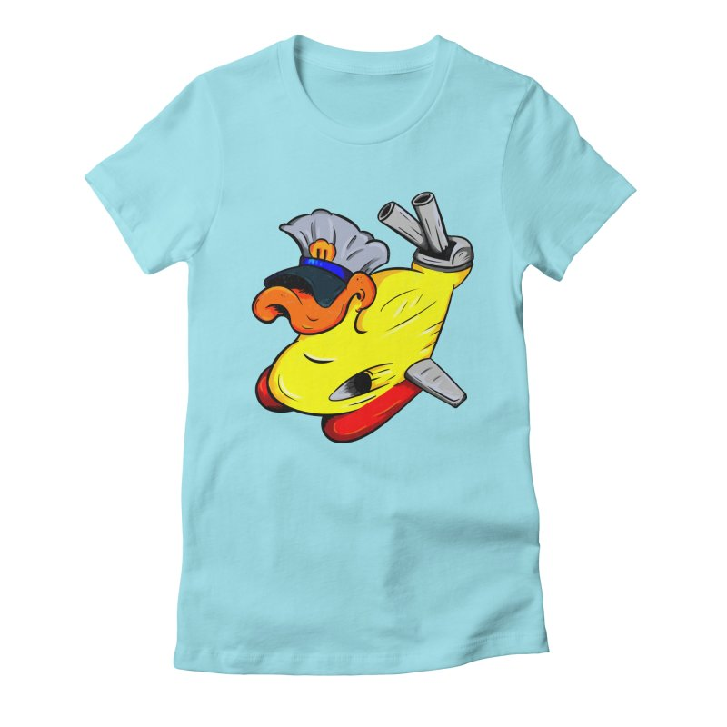 Destrucduck Women's Fitted T-Shirt by The Last Tsunami's Artist Shop