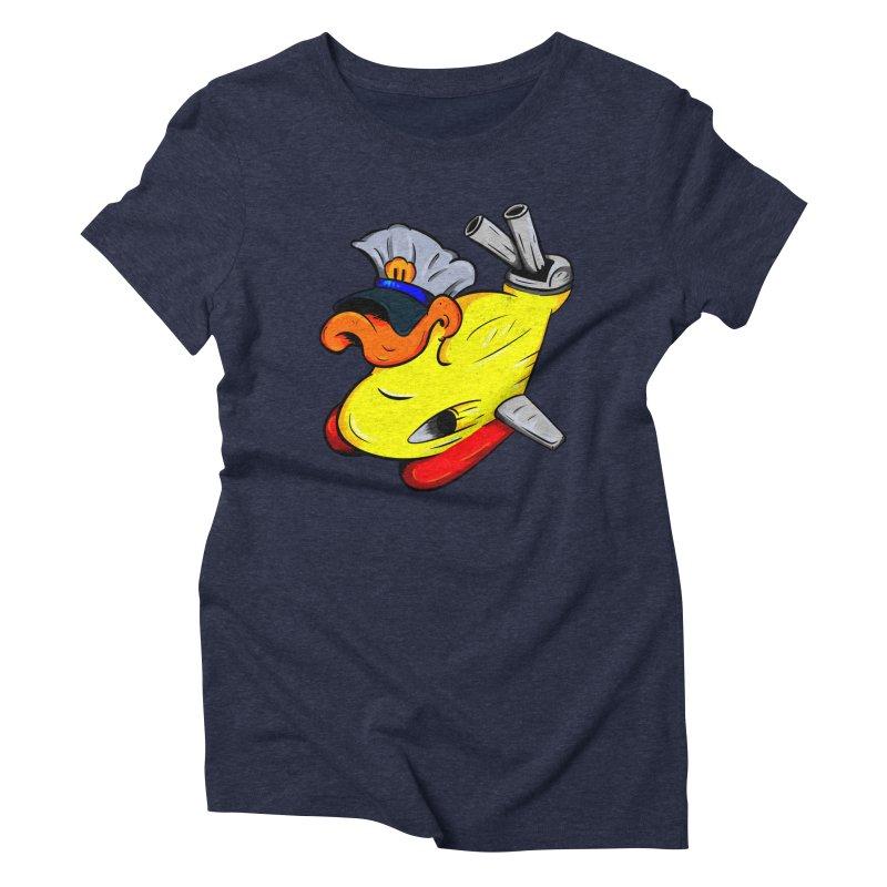 Destrucduck Women's Triblend T-Shirt by The Last Tsunami's Artist Shop