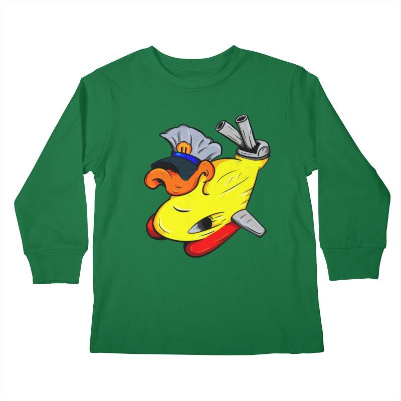 Destrucduck Kids Longsleeve T-Shirt by The Last Tsunami's Artist Shop