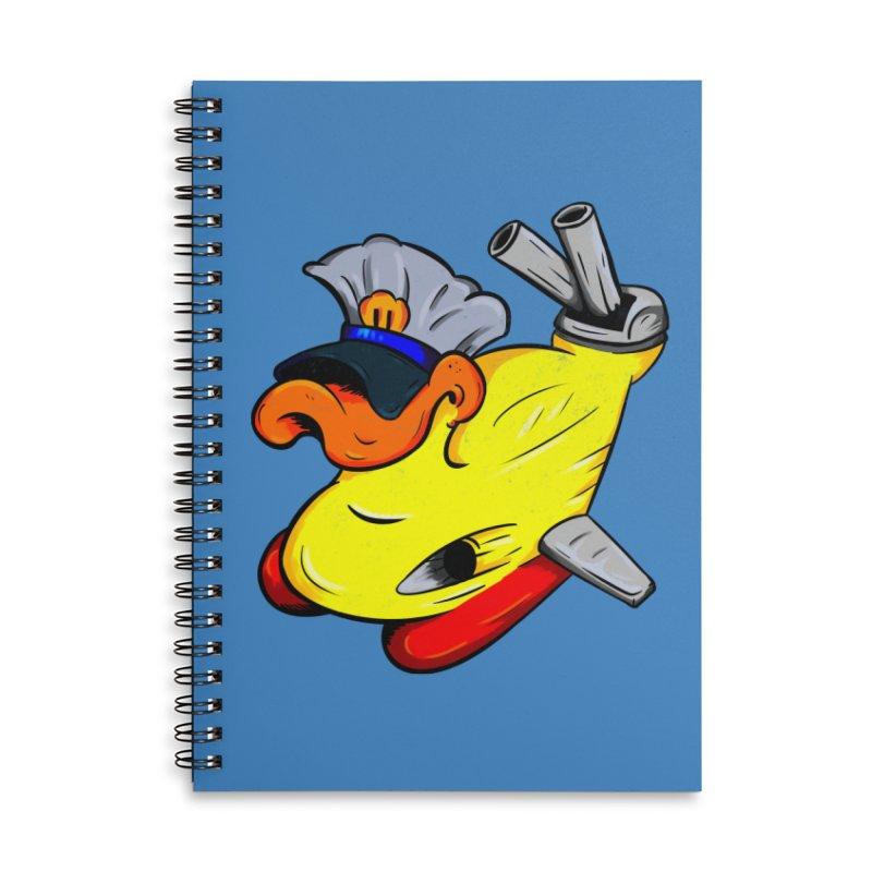 Destrucduck Accessories Lined Spiral Notebook by The Last Tsunami's Artist Shop