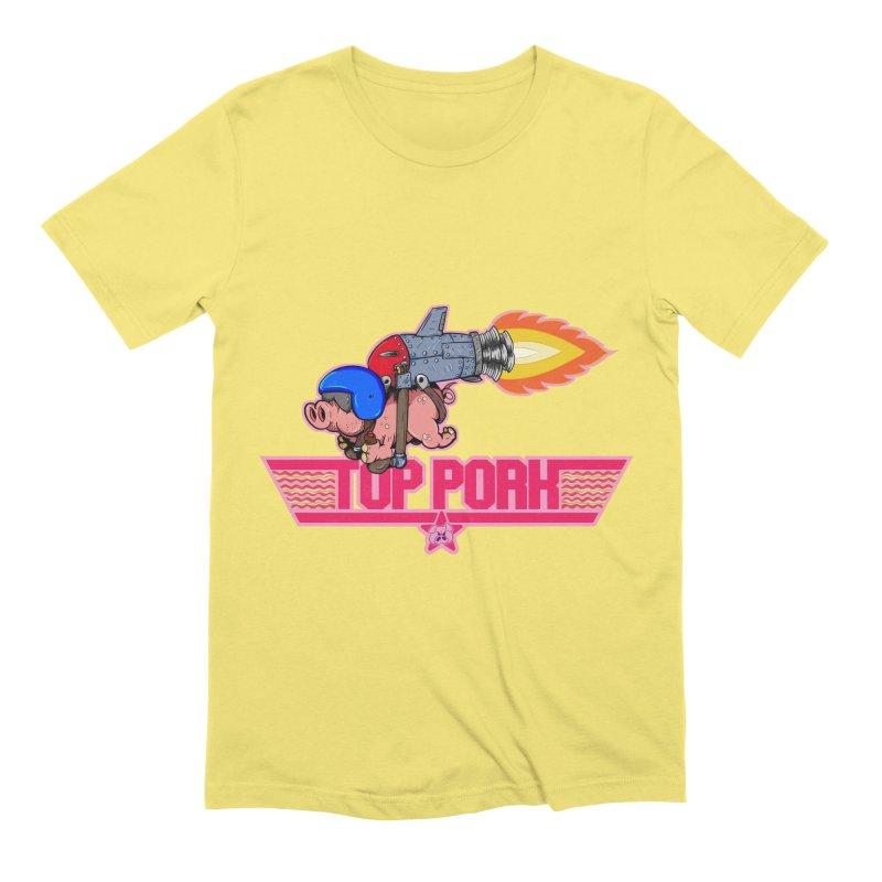 Top Pork Men's Extra Soft T-Shirt by The Last Tsunami's Artist Shop
