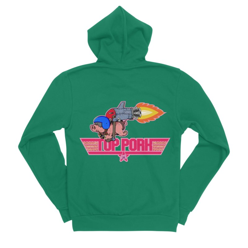 Top Pork Men's Sponge Fleece Zip-Up Hoody by The Last Tsunami's Artist Shop