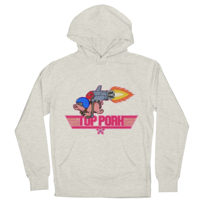 Top Pork Men's French Terry Pullover Hoody by The Last Tsunami's Artist Shop