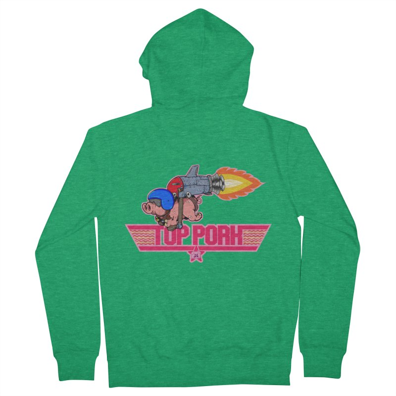 Top Pork Women's Zip-Up Hoody by The Last Tsunami's Artist Shop